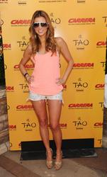 Amber Lancaster Wearing Hot Bikini Top To Carrera Escape Party At TAO Beach Club In Las Vegas