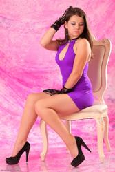 Kleofia - Purple Dress