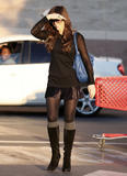 Kate Beckinsale miniskirt boots
